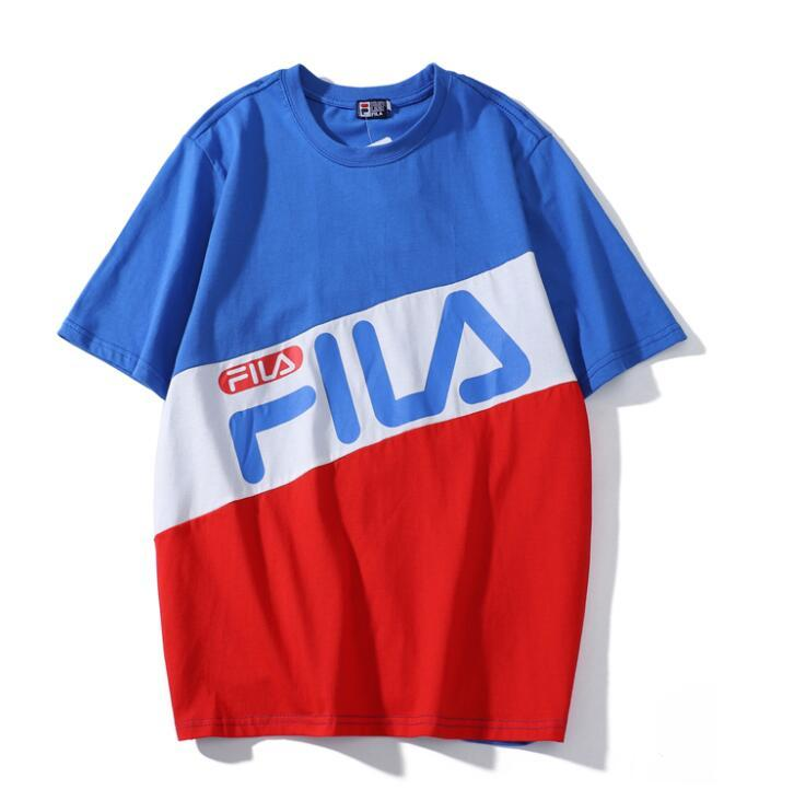 236524cf1786 19ss Mens Designer T Shirts Fashion Luxury Print Clothes Colorblock T-shirt  Short Sleeve Women Shirts Crew Neck Top Quality Online with  24.74 Piece on  ...