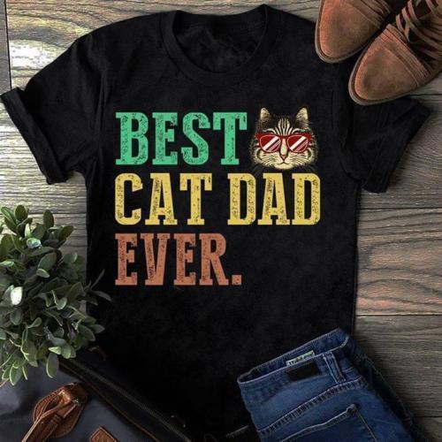 bcd88426a Compre Melhor Gato Pai Sempre Vintage Engraçado Camiseta Homens De Algodão  S 6XL Preto Feito Nos EUA Orgulho Dos Homens T Shirt Escuro De Sixcup, ...