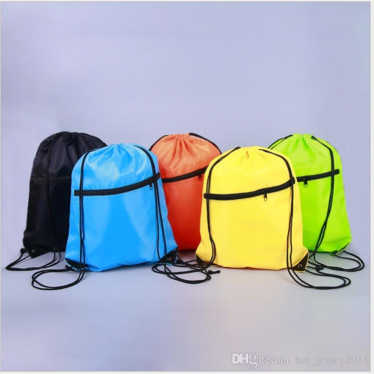 6489f5178230 2019 Portable Waterproof Nylon Shoe Bags Drawstring Dust Backpacks Storage  Pouch Outdoor Travel Sports Storage Gym Bags  29566 From Hot jersey2018