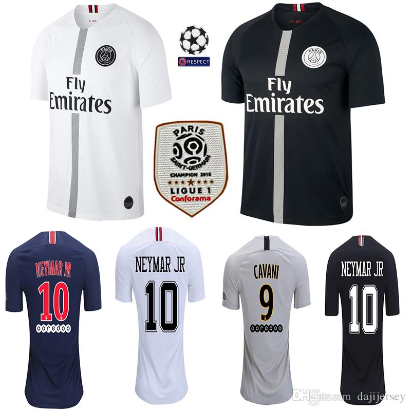 buy online c0e29 8807f PSG soccer jersey 2019 Paris MBAPPE saint germain jersey 18 19 camisetas  football kit champions shirt men kids