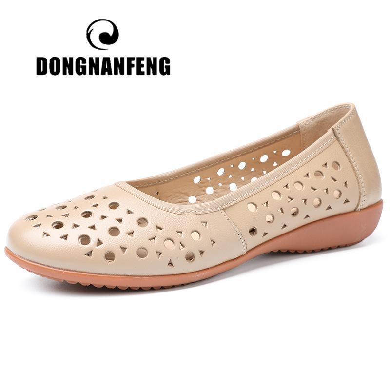 67d6298cca7 DONGNANFENG Women Mother Ladies Female Shoes Flats Sandals Summer ...