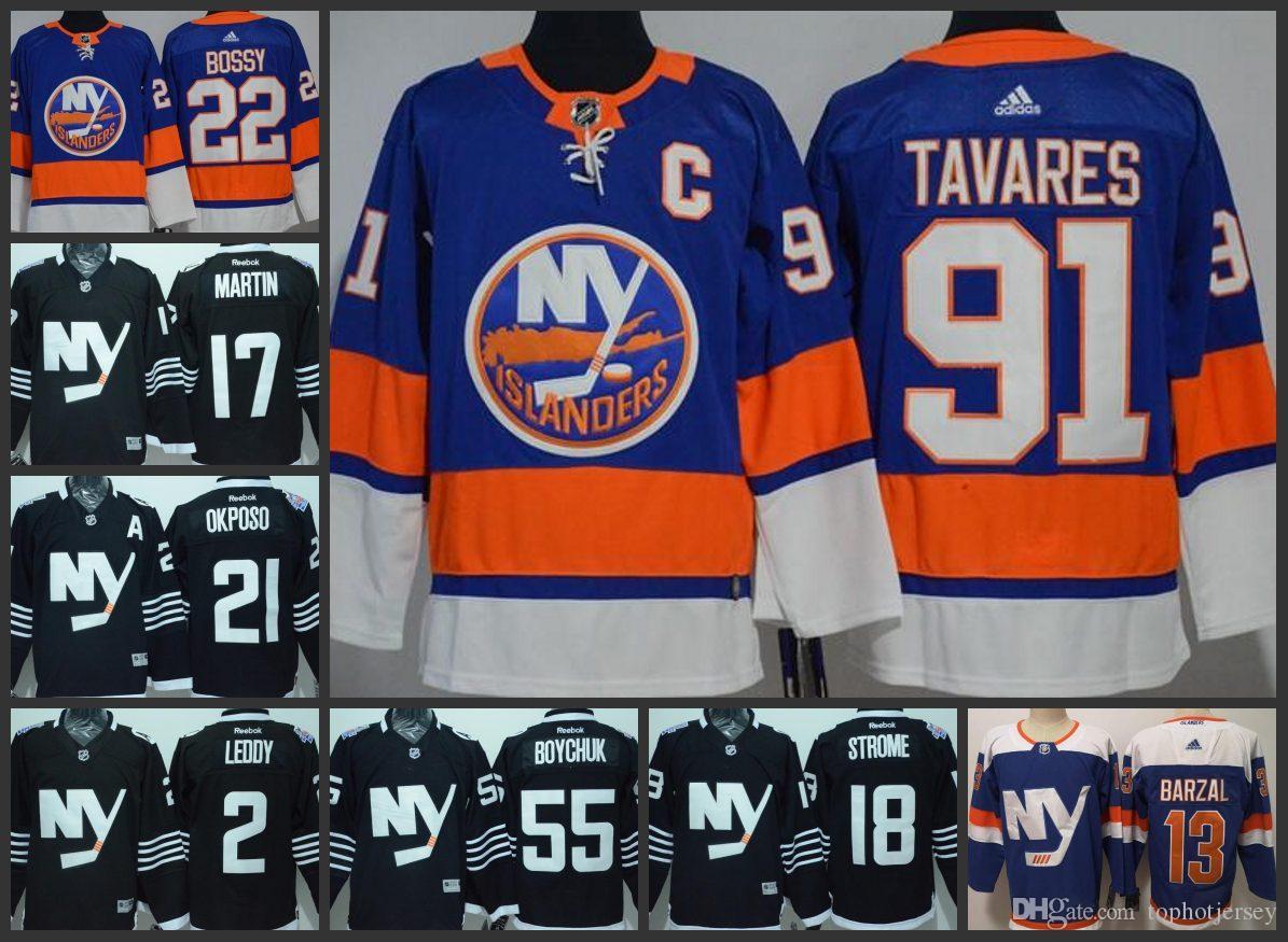 ae67b7df7 NY Islanders Hockey Jerseys  13 Mathew Barzal 22 Mike Bossy 91 John Tavares  2 Nick Leddy Stitched Jersey Online with  28.41 Piece on Hot top jerseys1 s  ...