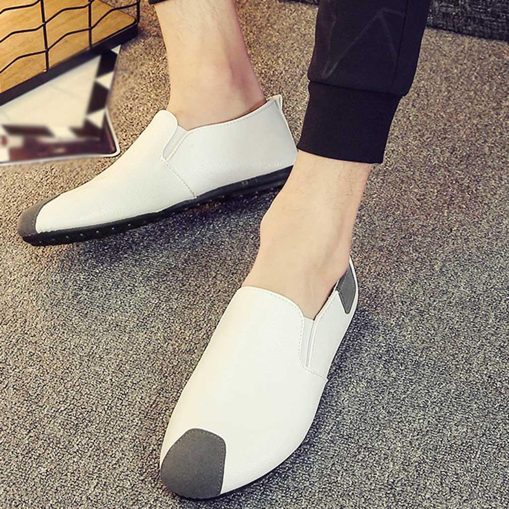 Men Fashion Leather Loafers Quality Slip On Flats Shoe Man Daily Work Shoes Comfortable Drving Loafers Male Leather Casual Shoes