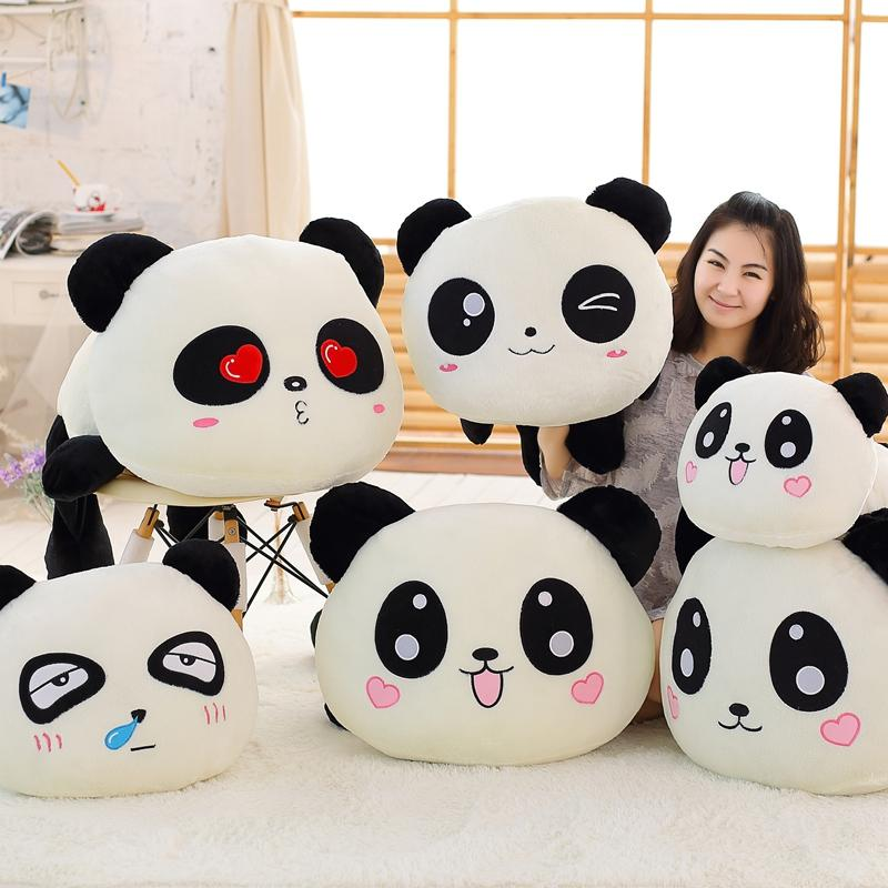 Acquista panda cuscino 55 cm kawaii testa grande cartone animato