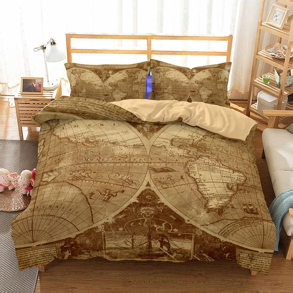 World Map Sheet Set.World Map Bedding Set 3d Bed Linings Queen Size King Twin Full Bed
