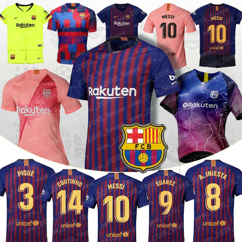 sports shoes 1d765 117d3 barcelona jersey messi 10 football soccer Jersey player version 9 Suárez 11  DEMBELE 14 COUTINHO barcelone shirt 2019 Jerseys top sale