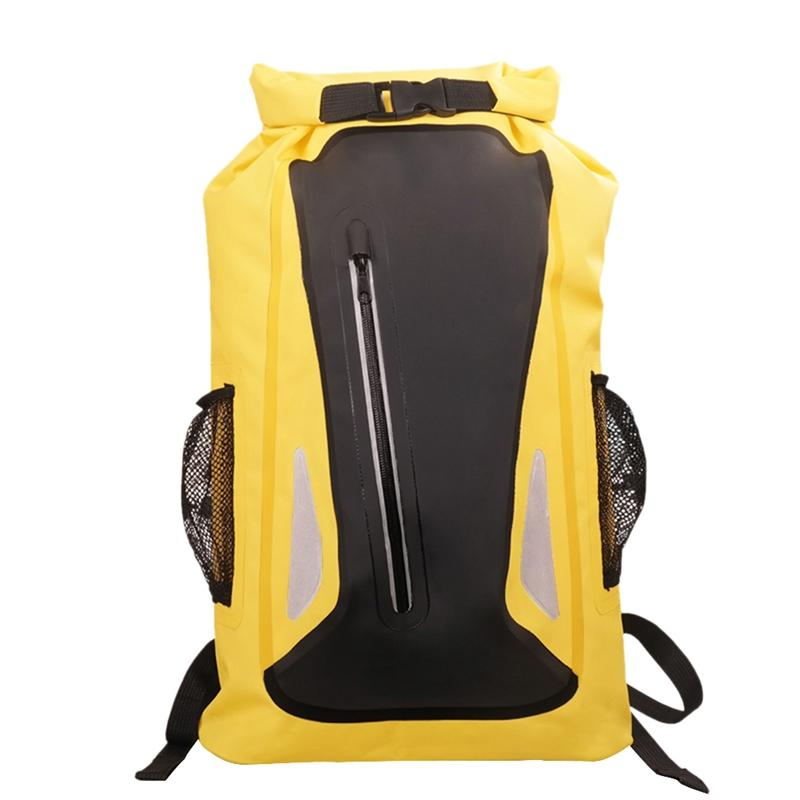 Outdoor River Traveling Bag Dry Sack Bag Double Shoulder Straps Water Pack Swimming Backpack Waterproof for Drifting Kayak