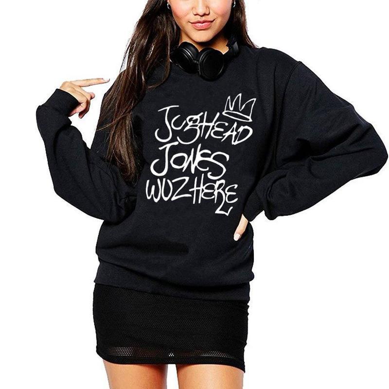 ad640230540a 2019 Vsenfo Jughead Jones Wuz Here Crewneck Sweatshirt Women Casual ...