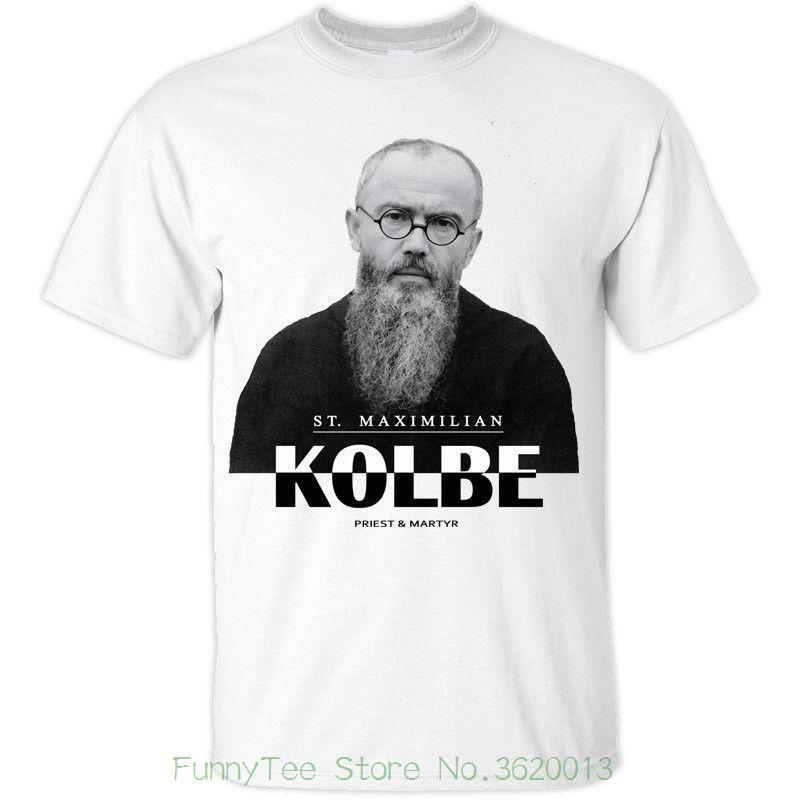 St Maximilian Kolbe ( Polish Priest And Martyr ) Catholic Christian T-shirt Colors