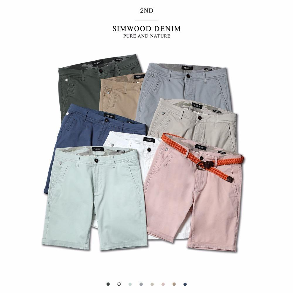 da8bf12a21 2019 Simwood 2019 Summer New Solid Shorts Cotton Slim Fit Knee Length  Casual Men Clothes High Quality Plus Size Available C19040101 From  Shen8407, ...