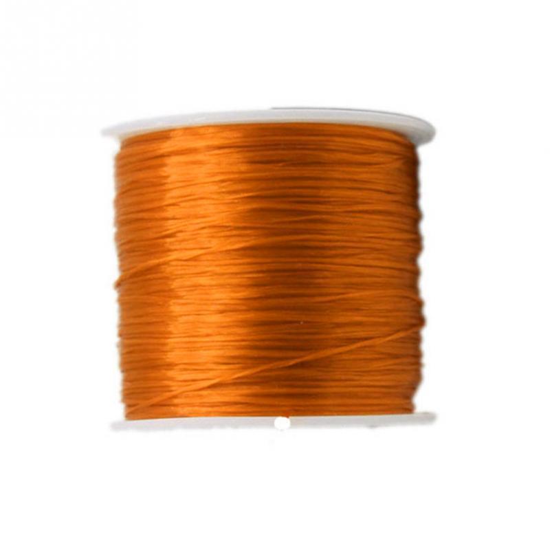 5cbe05a18970 80 Metro 0.6mm Cordón de hilo de cuero encerado para diy herramienta de  artesanía mano poliéster hilo de costura multicolor collar de la cinta