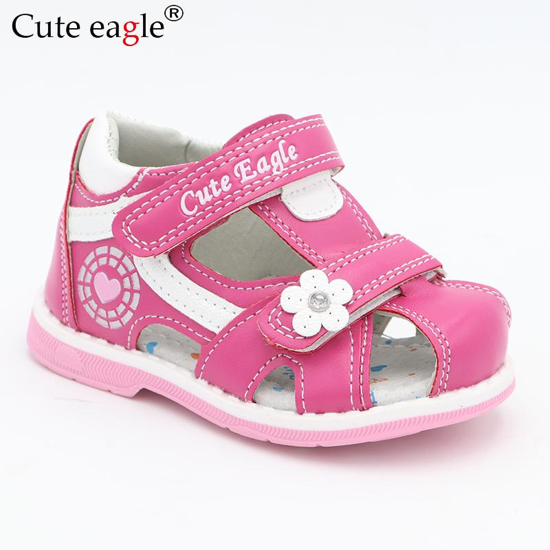 5017f5ed4 Cute Eagle Summer Girls Orthopedic Sandals Pu Leather Toddler Kids ...
