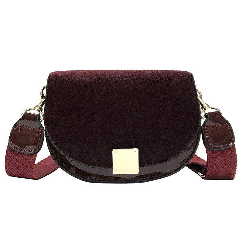 4b89e731a6 Vintage Fashion Saddle Bag 2019 New High Quality Pu Leather Women S  Designer Luxury Handbag Lock Plush Shoulder Messenger Bag Handbags On Sale Leather  Bags ...