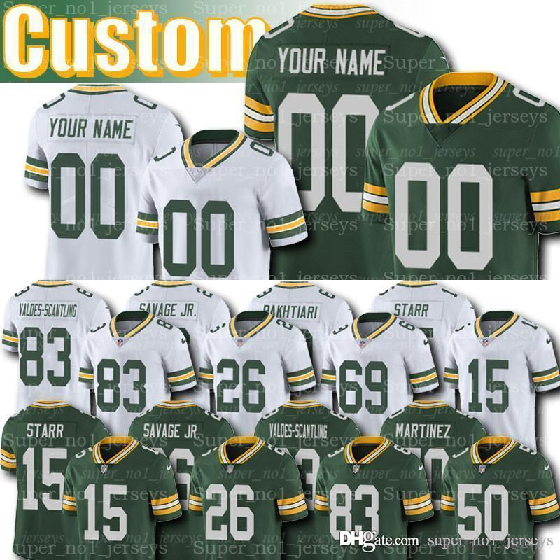 online store 424d4 4c102 Custom Packers Jerseys 15 Bart Starr Jersey 69 David Bakhtiari Jerseys  Darnell Savage Jr. 50 Blake Martinez Turner Sternberger White Sharpe