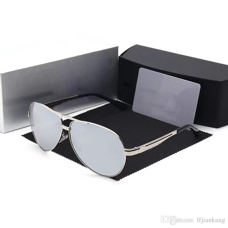4ec70e918 Compre Mercedes Benz Marca Mercedes Clássico Homens De Alumínio Quadro  Óculos De Sol HD Polarizada Espelho UV400 Masculino Óculos De Sol Das  Mulheres Para ...