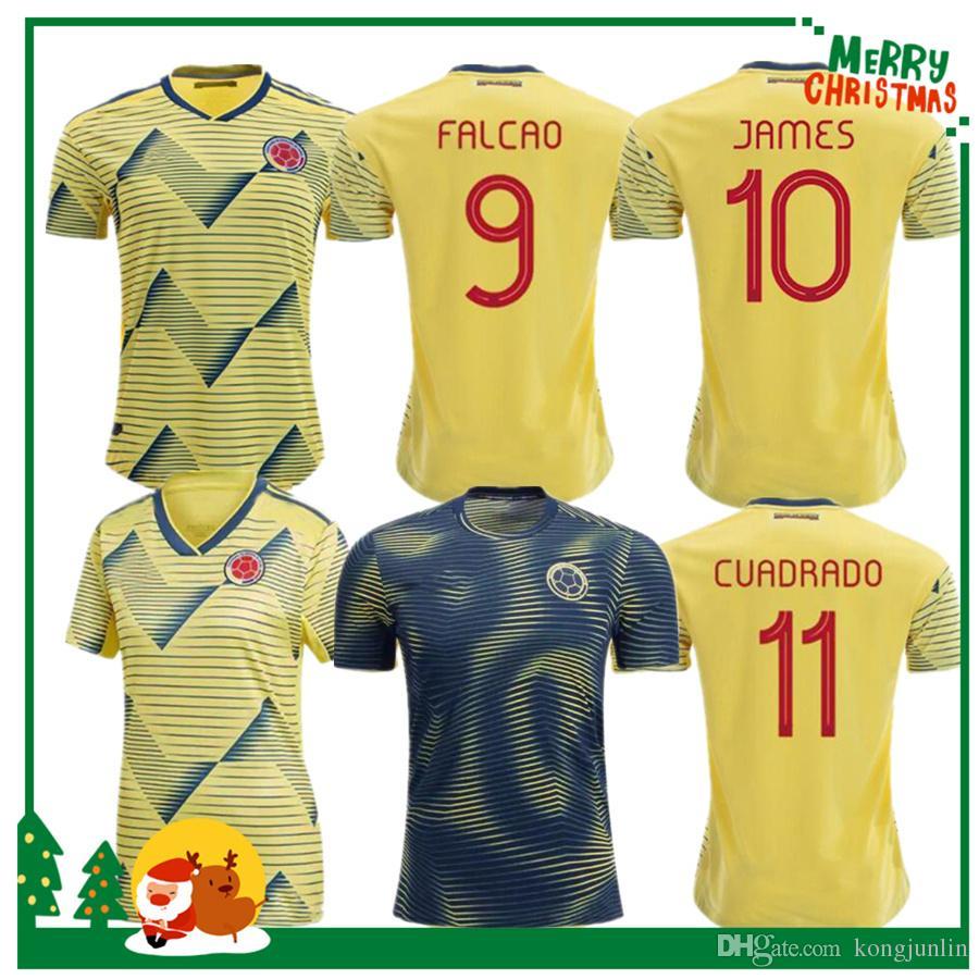 best website 79ef1 c81d3 19 20 Colombia JAMES FALCAO VALDERRAMA Soccer Jersey Colombia Club Home  away Football Short 2019 man woman kids kit Football Shirt