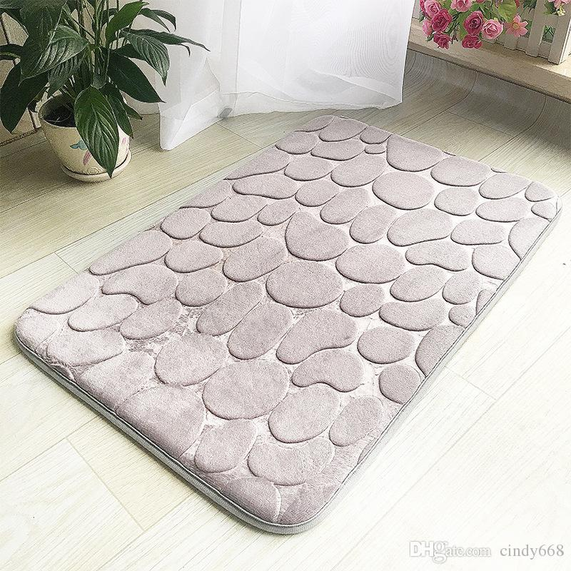 2019 Thickened Floor Mat Grey Door Mat Bathroom Mat Soft Feet Pad For Kithcen Bedroom Doorway Anti Slip Toilet Floor Rug 40x60cm From Cindy668, ...