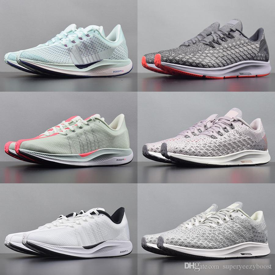 new concept c12b3 e47dd Acheter 2019 Nike Zoom Pegasus 35 Turbo Flymesh Running Shoes Mens Air New  Mesh Mesh Zoomx Réagir Coureurs Femmes Tricot Noir Blanc Rose Formateurs  Taille ...