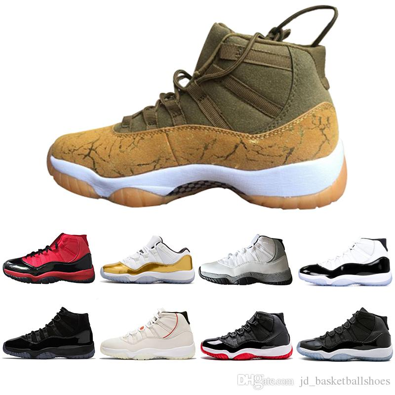 dbf82d8a4b91d5 2019 Direct Selling 11 Mens 11s Basketball Shoes Concord 45 Platinum Tint  Space Jam Gym Red Win Like 96 Designer Sneakers Men Sport Shoes From ...