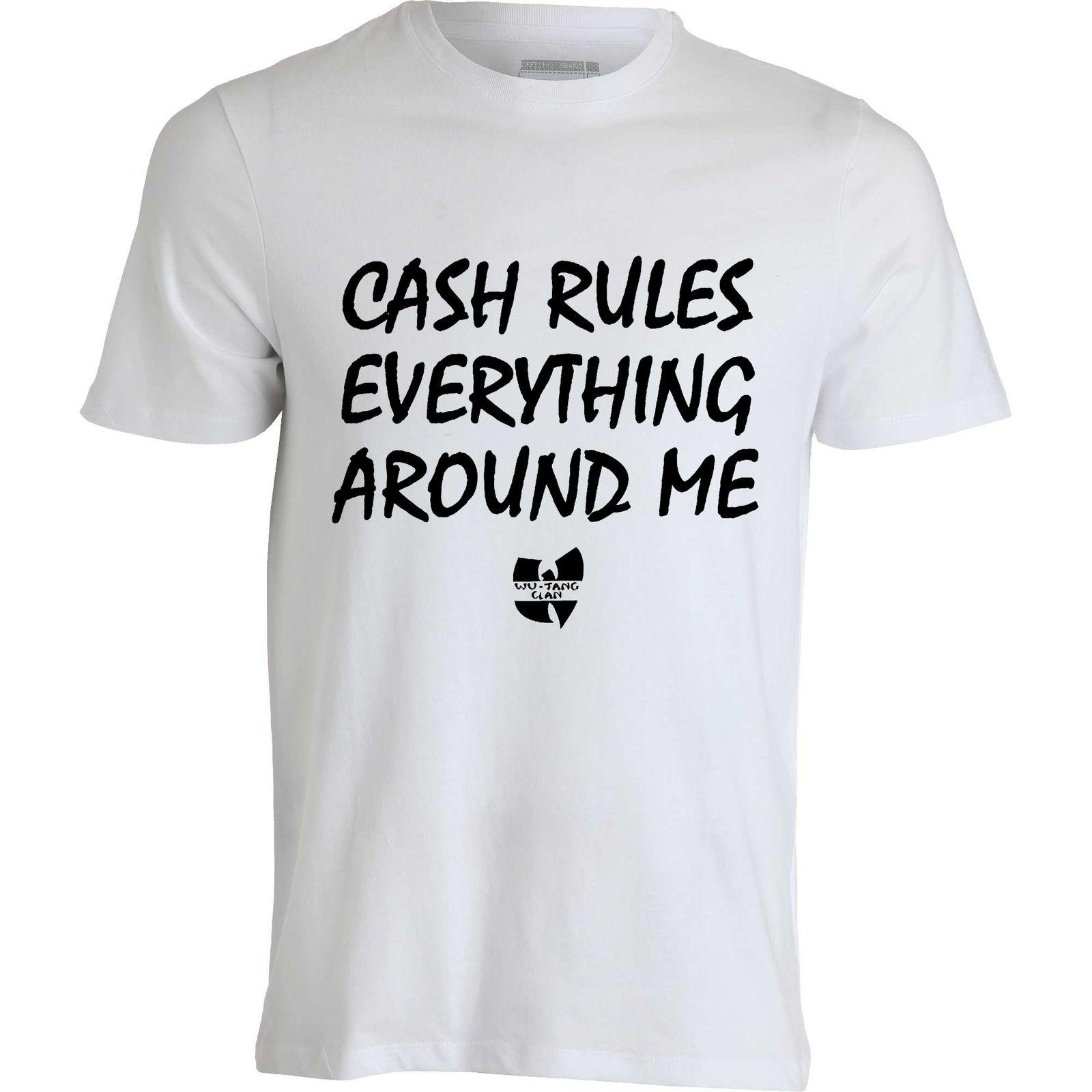 a671c0107ea Wu Tang Clan CREAM Cash Rules Everything Around Me Men S Top White T Shirt  Funny Unisex Casual Tshirt Top Buy Cool Shirts Online Funny T Shirt Sites  From ...