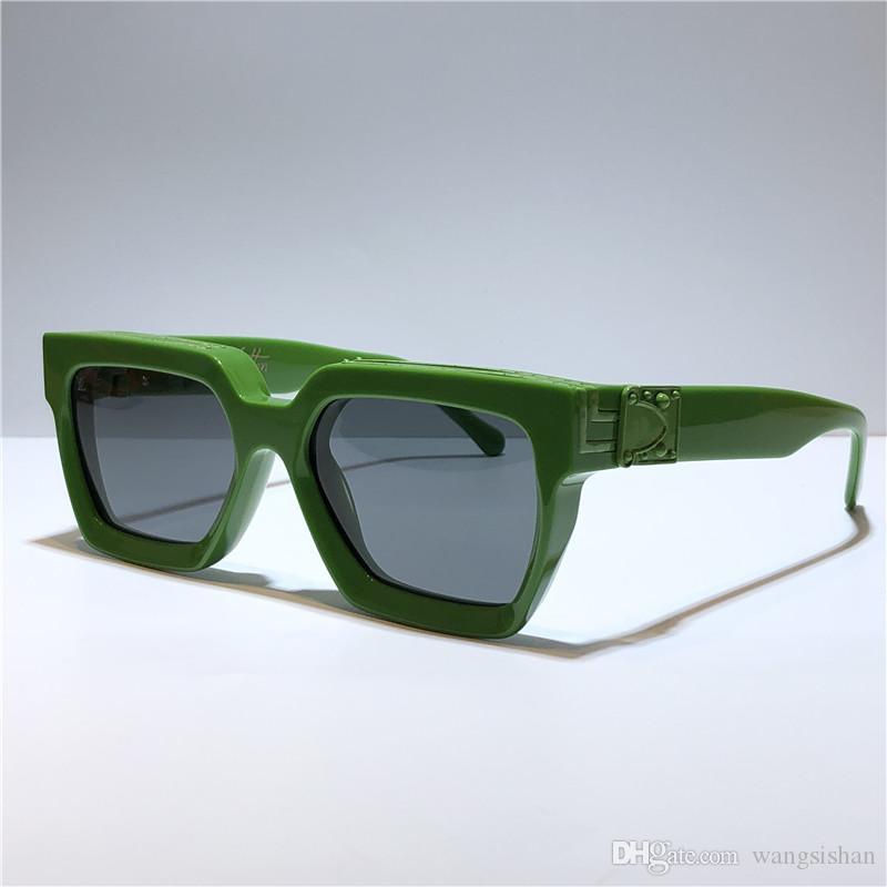 New homens designer de óculos de sol Z1165W Millionaire quadrado quadro do vintage ouro brilhante de verão lente UV400 1165 estilo qualidade logotipo do laser topo