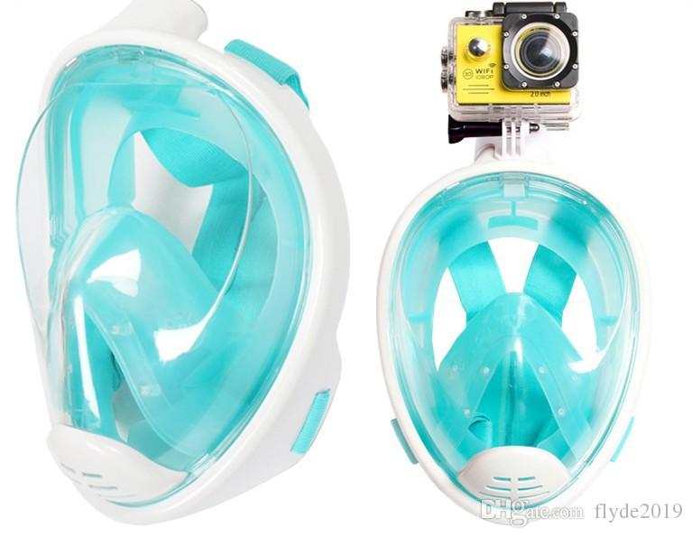 Underwater Diving Mask Snorkel Set Summer Swimming Training Scuba mergulho full face snorkeling mask Anti Fog No Camera