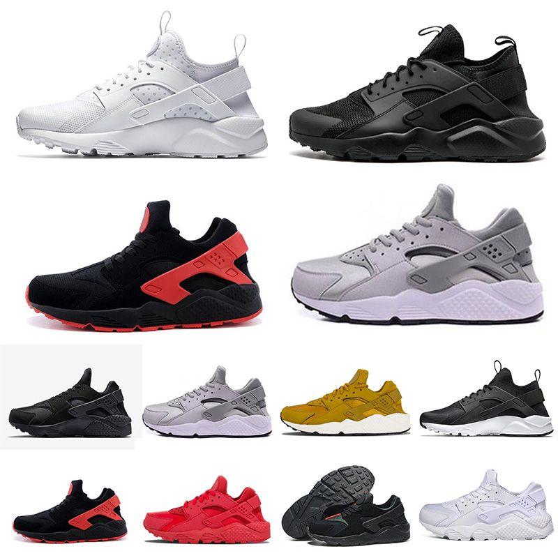 premium selection f5989 2950a Acheter 2018 NIKE Huarache 1 New Air Huarache 1 Ultra Chaussures De Course  Pour Hommes Femmes All Red Huraches Huaraches Baskets Hommes Hurache Sports  ...