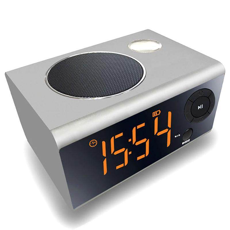 1c973789597 2019 Mini LED Alarm Clock Night Light Bluetooth Speaker Stereo Music USB  Port Charging AUX Slots For Phone  Tablet Player FM Radio From Ilexer