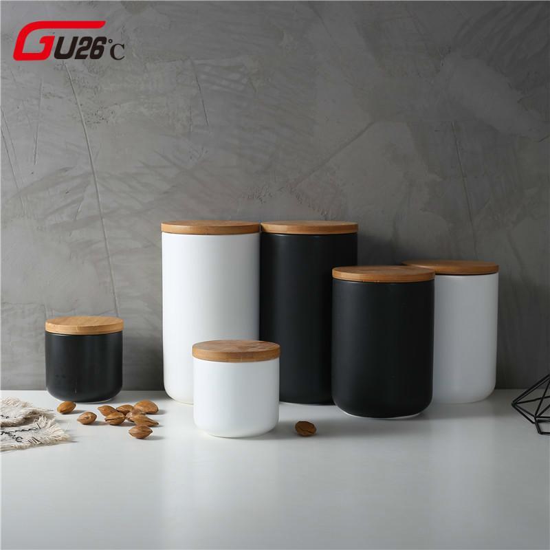 Barattolo di stoccaggio ceramico sigillato 260ML / 800ML / 1000ML per il  contenitore del carro armato delle spezie per il cibo con la cucina del ...