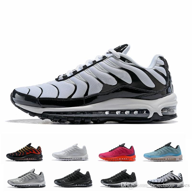 dc3de637f8377e 2019 New 97 Plus SE Tn Tuned Racer Pink Mens Running Shoes Sneakers 97s Tns  Fashion Brand Black Shock Orange Womens Trainers From Bestcheap shoes