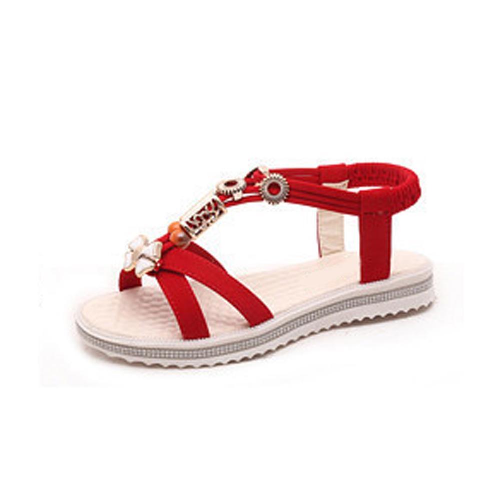 16dec4dd183fbc Roman Women Sandals Flat Sandals Women Fashion Bohemian Casual Flip Flops  Shoes Ladies Cheap Shoes For Women Buy Shoes Online From Haikee