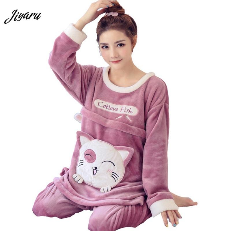 b528f7d3cd 2019   Set Maternity Sleepwear Pregnant Breastfeeding Clothes Nursing  Pajamas For Pregnant Women Cartoon Maternity Loungewear From Breadfruiter