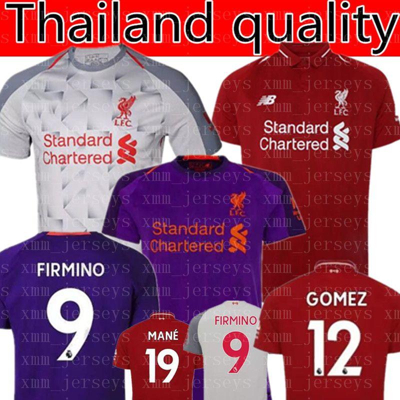 hot sale online bff76 bd32e Mohamed SALAH soccer Jersey 2019 VAN DIJK VIRGIL KEITA SHAQIRI Football  Shirt FIRMINO liver Uniform Team WOMEN man Kids Kits