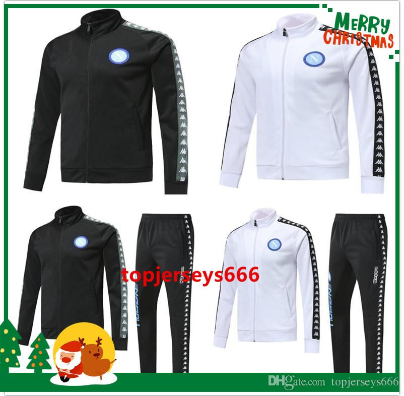 best sneakers 40488 b7f0a New 18 19 napoli Soccer jacket training suit 2018 2019 Naples adult zipper  football jacket tracksuit Sweater