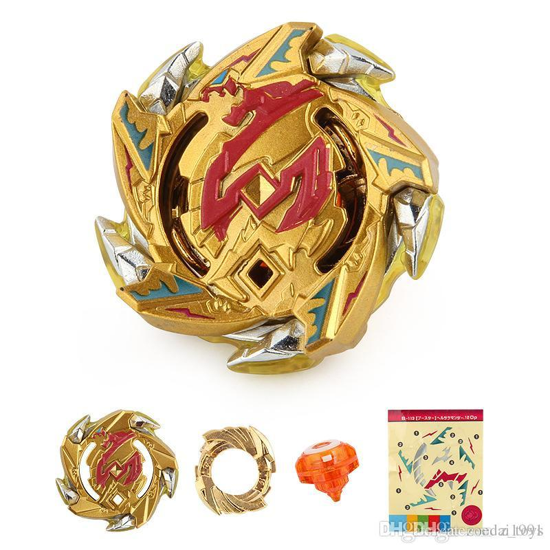 4D Beyblade Burst B-113 Hell Salamander.12.Op Zinc-Alloy Limited Gold Version Edition Spinning Tops