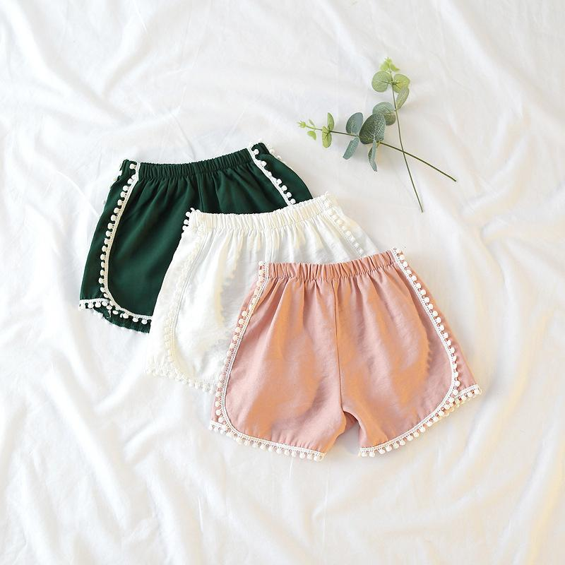 06dae88518dff Girls Hot Shorts Kids Summer White Green Pink Lace Short Baby All Match  Cotton Beach Clothes Children Clothing 1 7 Years Old Childrens Bike Shorts  Boys ...
