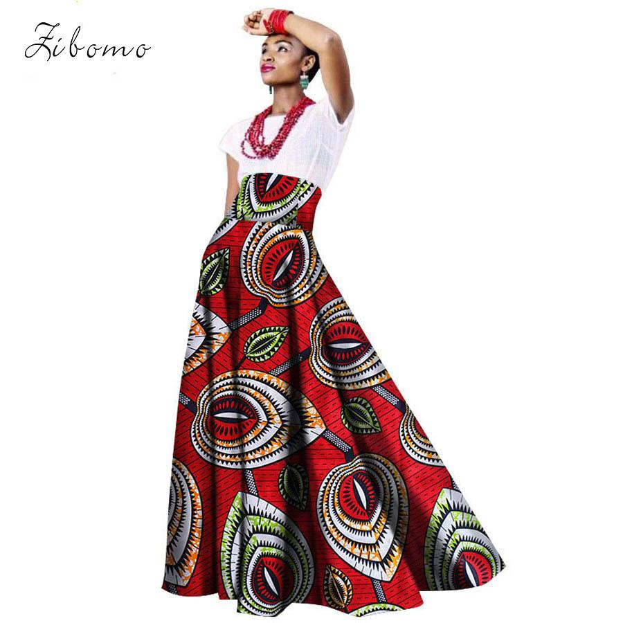 91af94961d 2019 2018 New African Skirt For Women 100% Cotton Wax Fabric Printing African  Clothing High Waist Ankara Dashiki Girl Lady Skirt From Weikelai
