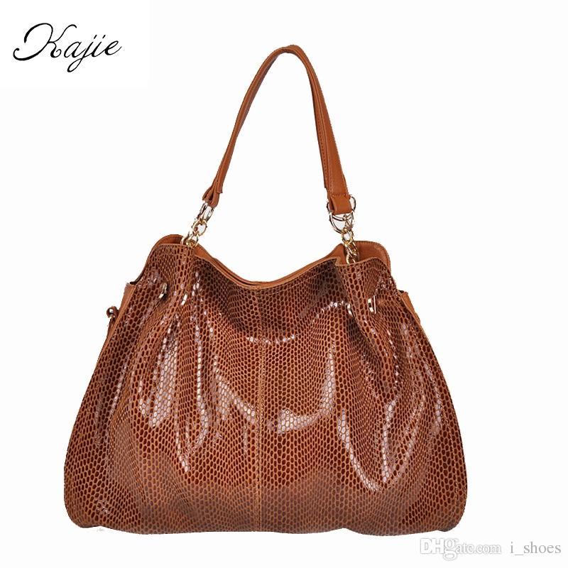 ff8830254d ... Women Bags Designer Handbags SnakeSkin Luxury Female Hobos Casual  Shoulder Tote Sac #125989 Cheap Purses Kathy Van Zeeland From I_shoes,  $65.89| DHgate.