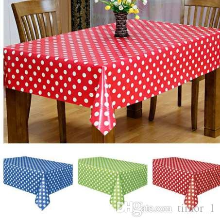 Multicolor Waterproof Tablecloth Plastic Disposable Tablecovers