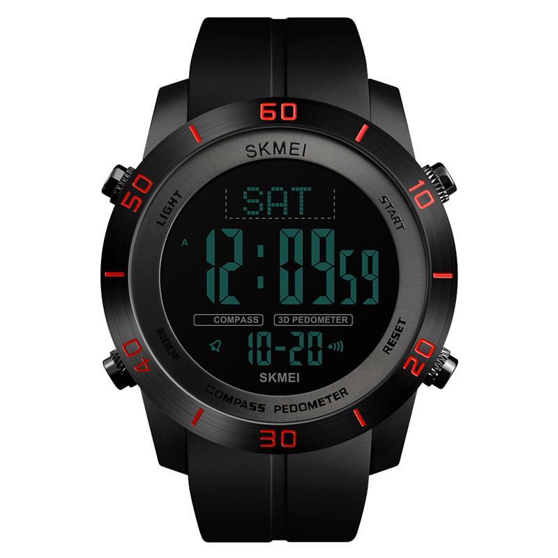 nuovo prodotto 26899 4815b SKMEI Orologi da uomo Bussola sportiva Impermeabile Pedometro Calorie  Orologio digitale Dual Time Orologio elettronico a LED Relogio Masculino