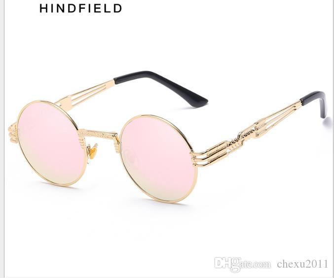 New Sunglasses Men's Metal Circular Frame Spring Glasses Frame Women's Sunglasses