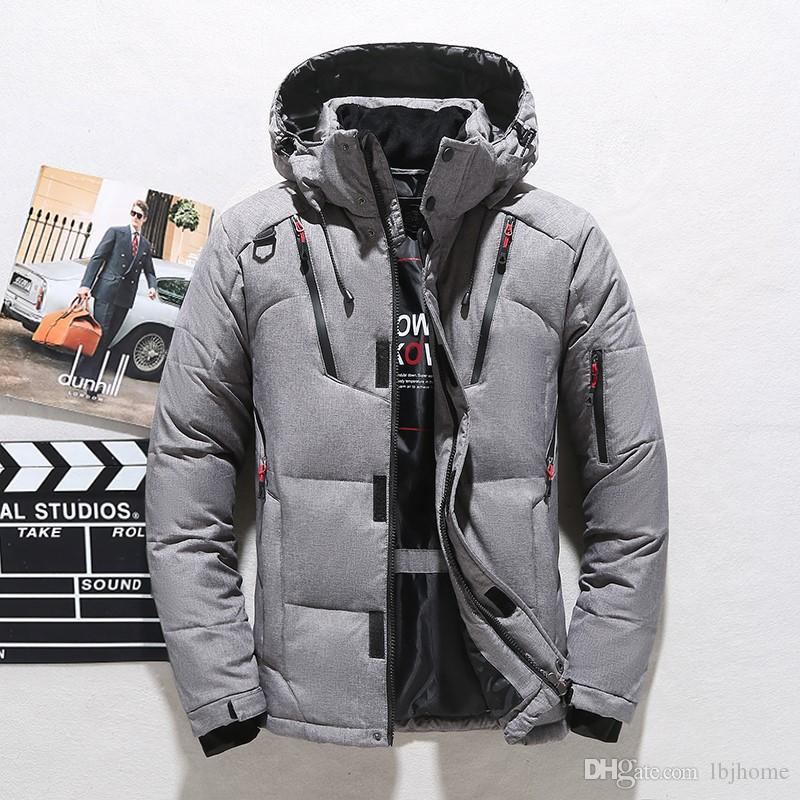 080 Hot Winter men Down Hoodies White duck down NORTH Jackets Camping Windproof Ski Warm Down Coat Outdoor Casual Hooded Sportswear1987
