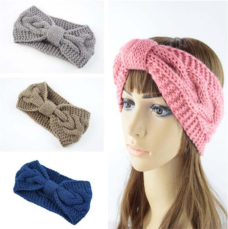 Knitted Hairband Crochet Cable Knitted Twist Head Wrap for Women ... 4d700d6bc498