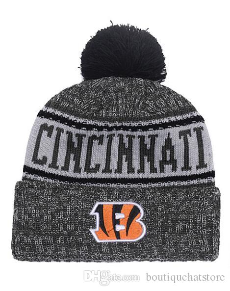 ab088003f 2018 Top Quality Brand Bengals Street Hip Hop Beanies With Funny Pom  Classic Fashion Casual Winter Wool Skullies Beanie Hat For Men And Women  From ...