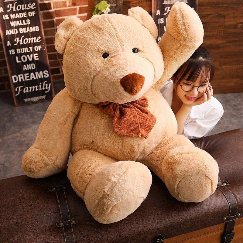New Big Cute Teddy Bear Plush Toy Soft Cartoon Animal Bear Stuffed Doll Girlfriend Valentine's Gifts Kids Baby Accompany Toys