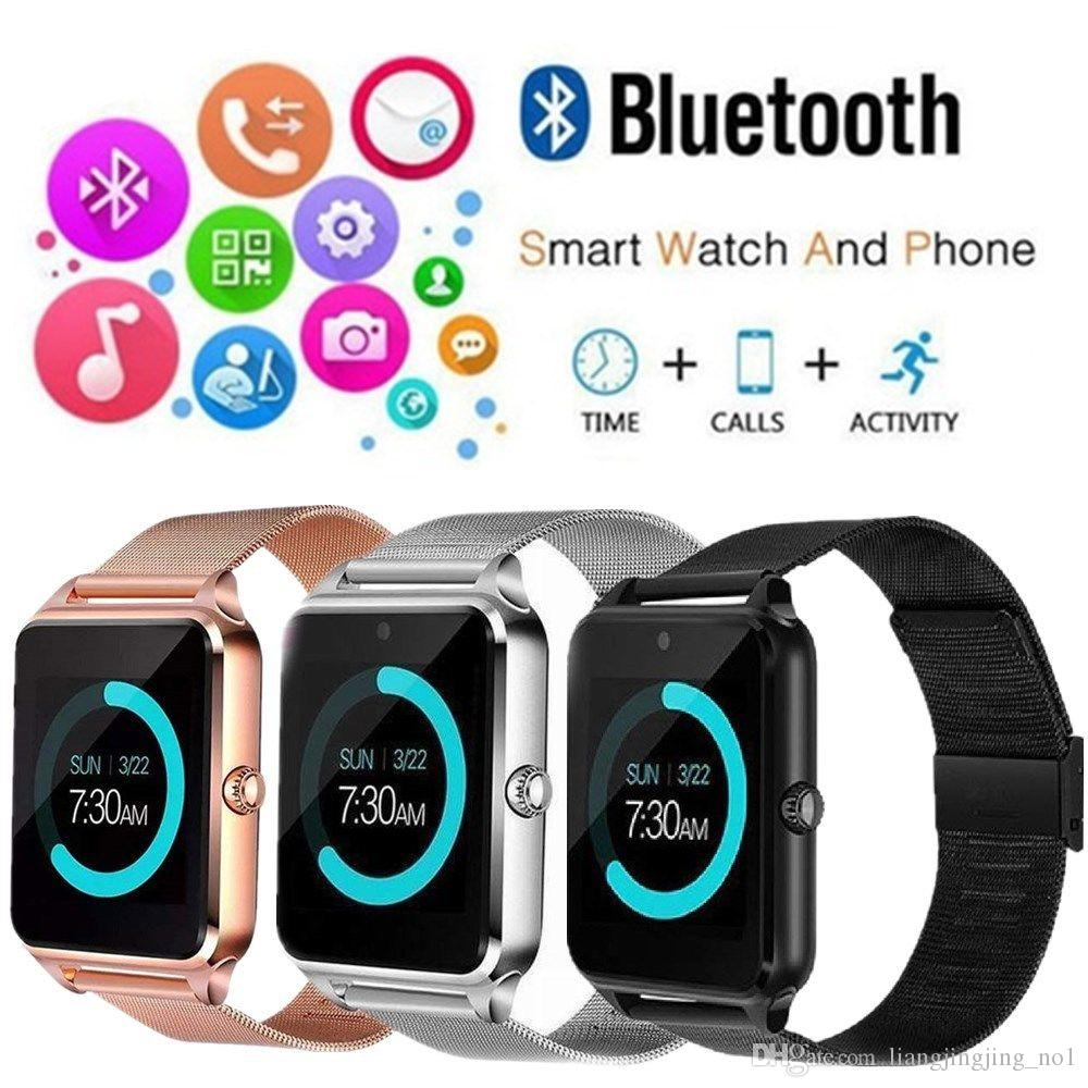 Z60 Bluetooth Smart Watch Slot and NFC Health Watchs for Android phone Smartphone Bracelet Smartwatch SIM Phone CLOCK AAA1343