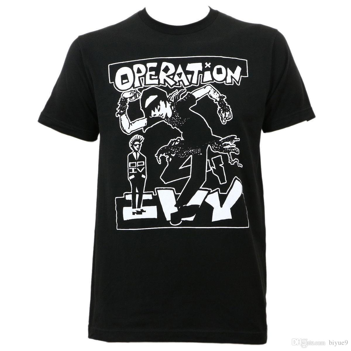 Authentic OPERATION IVY Skankin Ska Punk Slim-Fit T-Shirt S M L XL 3XL NEW 100% Cotton Men T Shirt Tees Custom