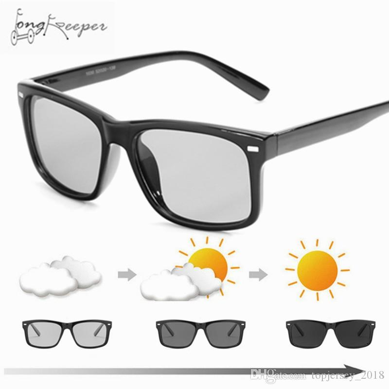 dab8d65a03 2018 Cycling Driving Men s Photochromic Polarized Sunglasses Vintage ...