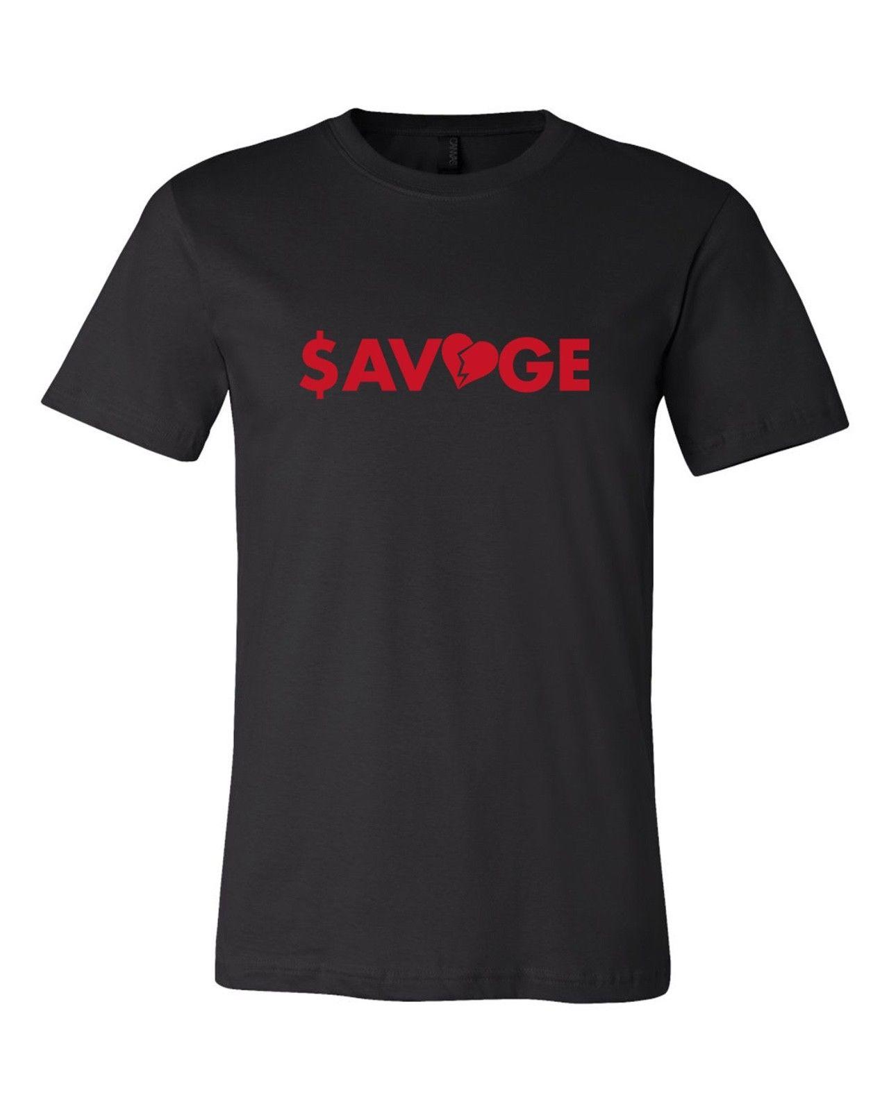 712654d8591 SAVAGE T SHIRT IN BLACK STREETWEAR FASHION FLU GAME NEW 2018 Short Sleeve,  O Neck 100% Cotton, Print Mens Summer T Shirts Sale Novelty Shirts From ...