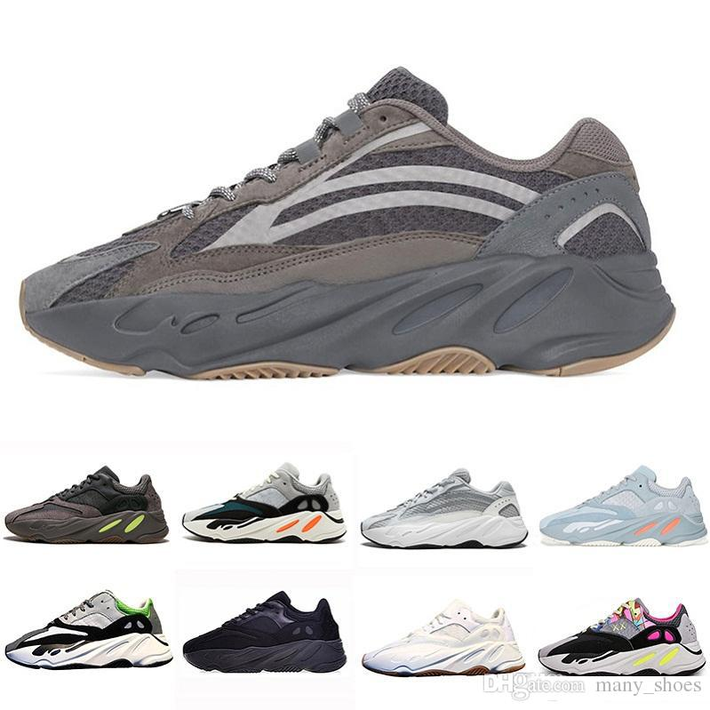ea6080a9a 2019 2019 Geode Inertia Static Kanye West 700 V2 Wave Runner Running Shoes  For Mens Womens 700s Mauve Solid Grey Luxury Designer Sports Sneakers From  ...